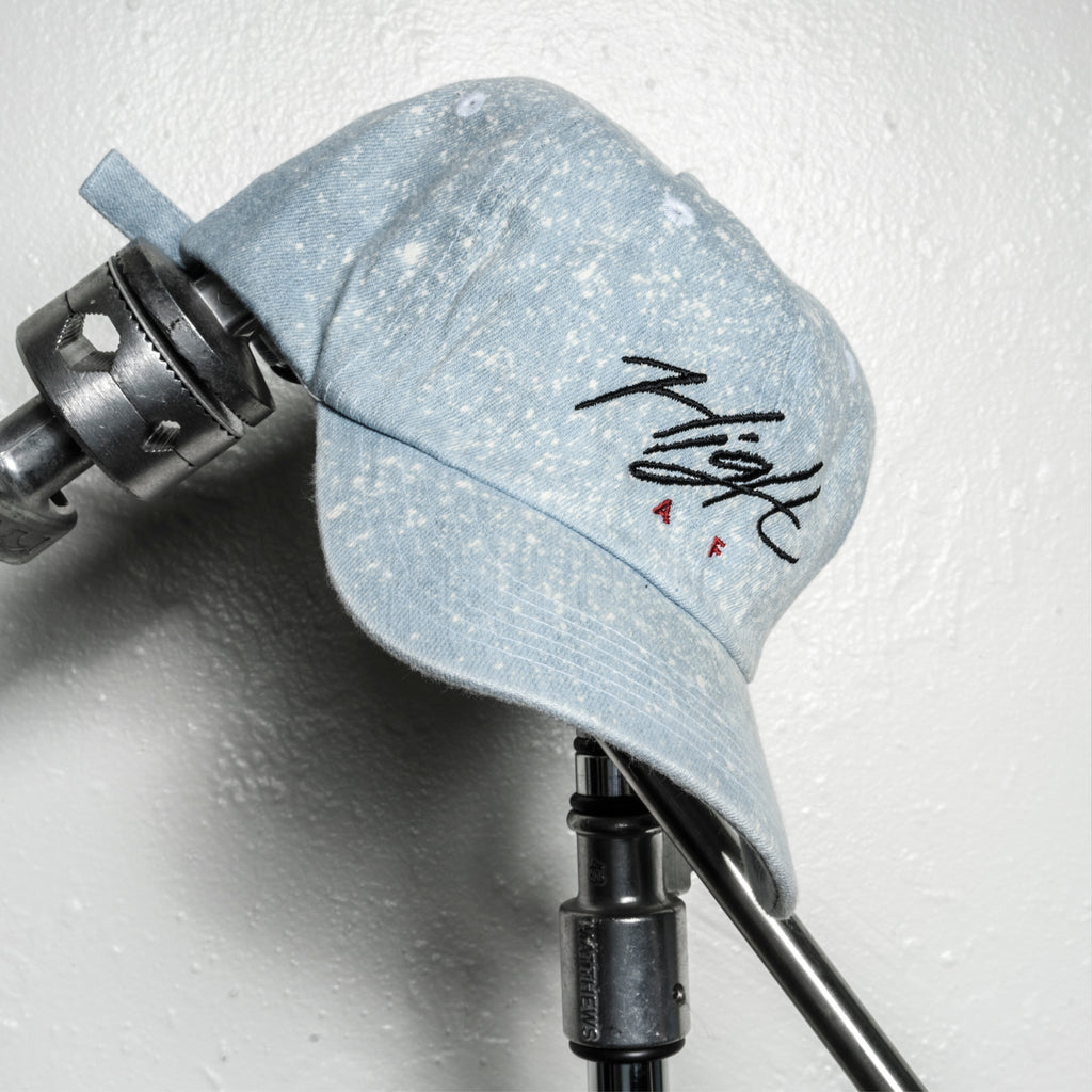 HIGH AF Dad Hat - ACID WASH BLUE