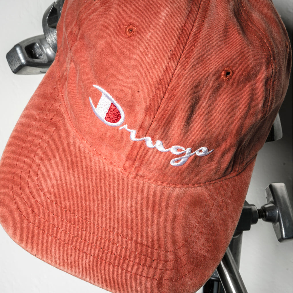 Drug Champ Dad Hat - Washed Orange