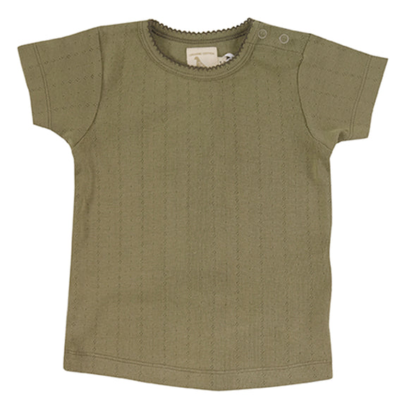 Pigeon Pointelle T-shirt Olive
