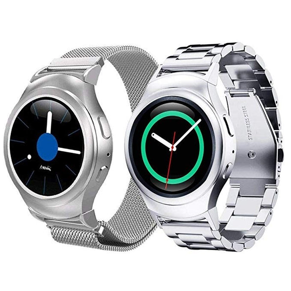 Samsung Gear S2 SM-R720 - Smart Watch With Heart Rate Monitor -Silver- Good Condition Free Next Day Delivery