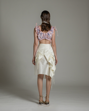 Load image into Gallery viewer, Drawstring embroidered bandeau