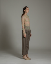 Load image into Gallery viewer, Multi-color embroidered fitted top