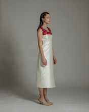 Load image into Gallery viewer, Festive Ruched neckline dress