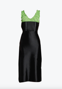 Ruched neckline dress
