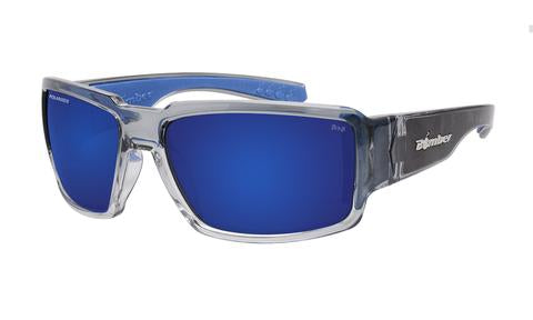 Boogie 2 Tone Crystal Polarised Blue Mirror - Bomber Eyewear Nz