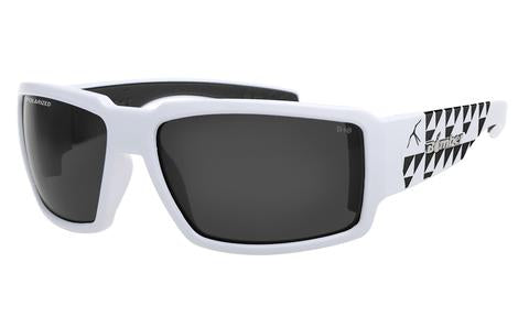 Boogie  Mana White Polarised Smoke Safety - Bomber Eyewear Nz