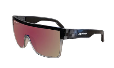 BUZZ Safety - Polarized Rose Pink Mirror Crystal - Bomber Eyewear Nz