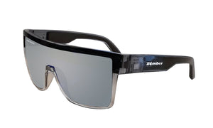 BUZZ Safety - Polarized Silver Mirror Crystal - Bomber Eyewear Nz