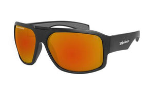 Mega Bomb Matt Black Red Mirror Polarised - Bomber Eyewear Nz