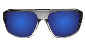 MEGA Safety - Polarized Blue Mirror Crystal - Bomber Eyewear Nz