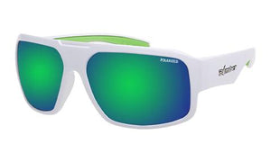 Mega White Polarised Green Mirror - Bomber Eyewear Nz