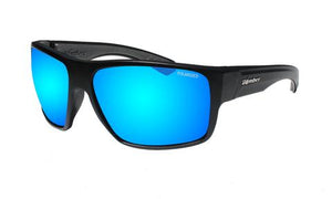 Mana Black Polarised Ice Blue Mirror - Bomber Eyewear Nz