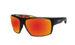 Mana Black Frame Orange Mirror - Bomber Eyewear Nz