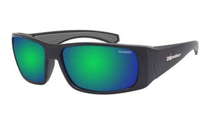 Pipe Polarised Green Mirror - Bomber Eyewear Nz