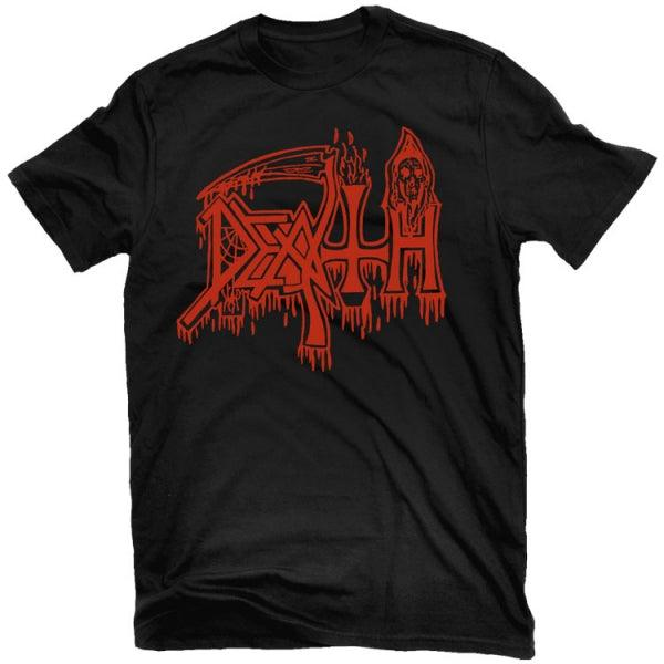 Death - Classic Logo (Red on Black) T-Shirt