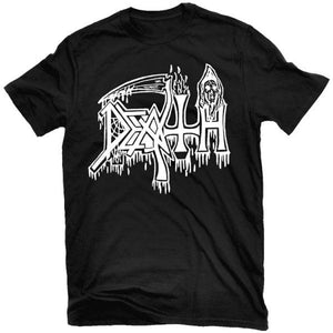 Death - Classic Logo (White on Black) T-Shirt