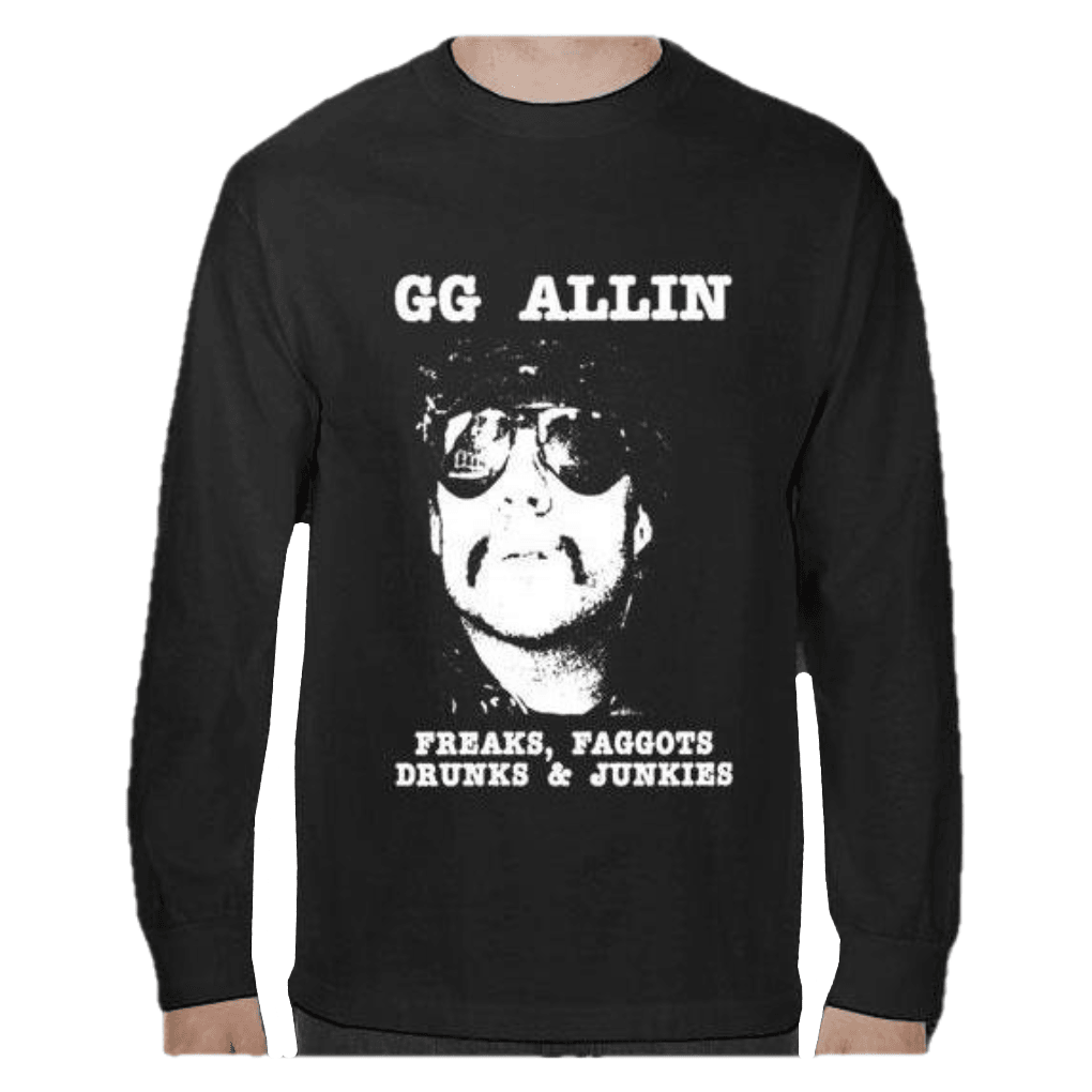 GG Allin - Freaks, Fa**ots, Drunks, and Junkies T-Shirt