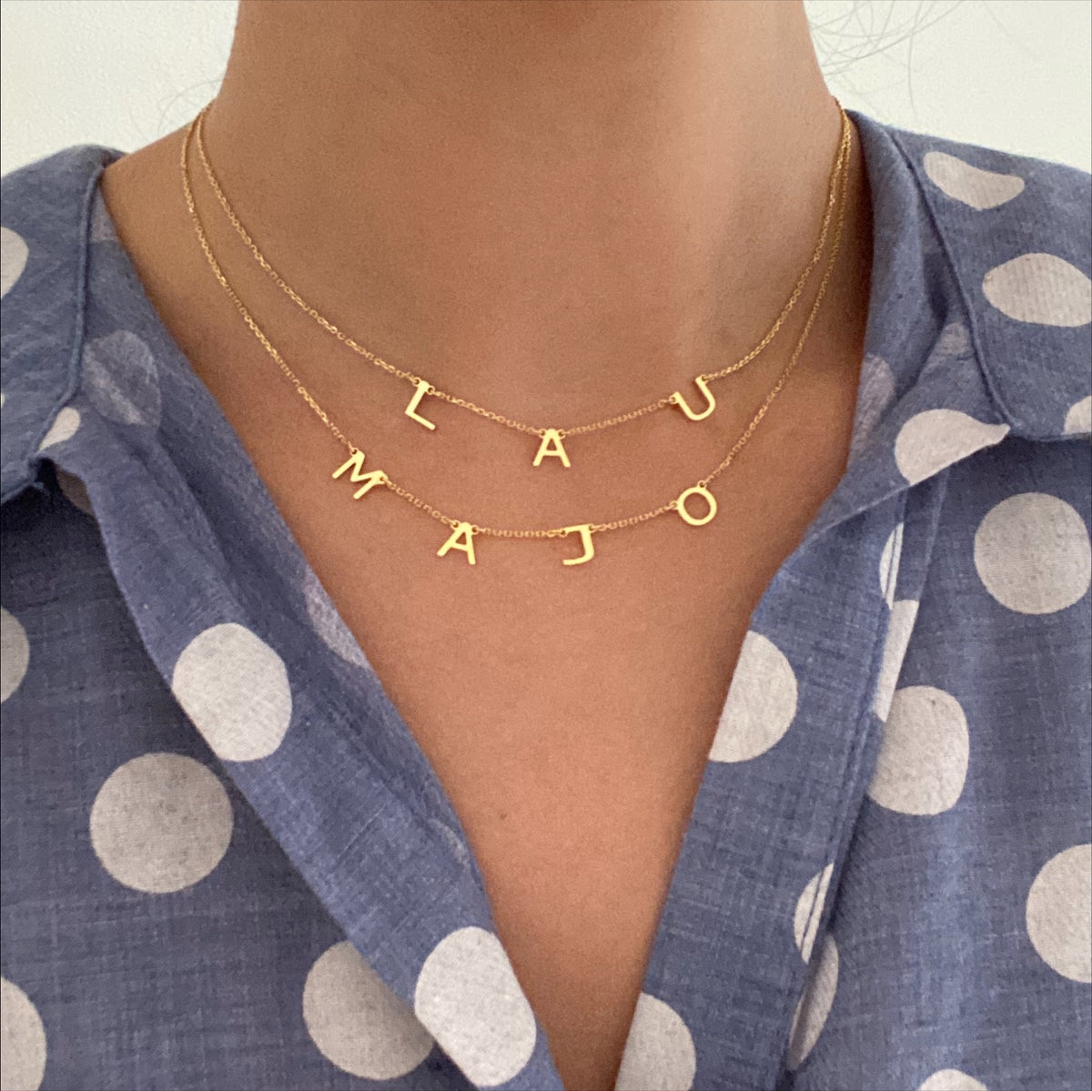 Oui Necklace - Solid Gold