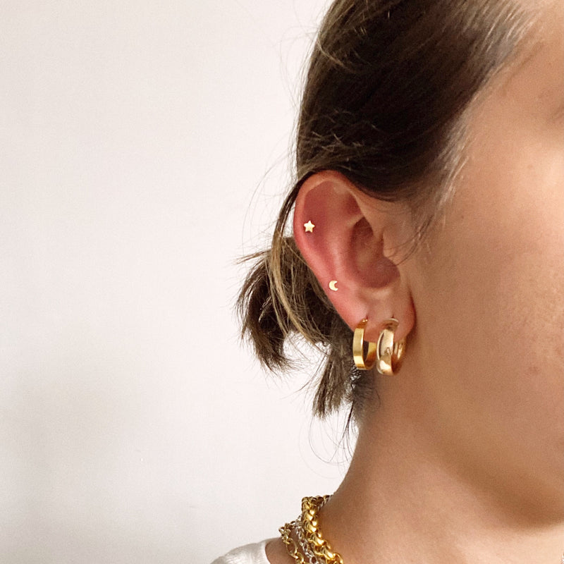 Tiny Star Piercing - Solid Gold