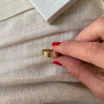 The Chunky Band Ring - Solid Gold