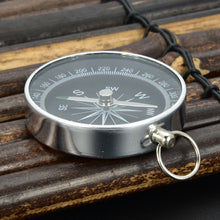 Load image into Gallery viewer, Portable Aluminum Lightweight Emergency Compass Outdoor camping