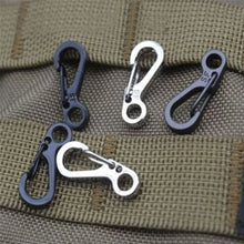 Load image into Gallery viewer, 10Pcs/Lot Outdoor Mini Aluminium Alloy  Carabiner Key Chain Clip