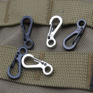 10Pcs/Lot Outdoor Mini Aluminium Alloy  Carabiner Key Chain Clip