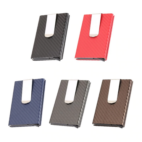 Let's be honest, nobody likes having a bulky wallet. And generally speaking, with contactless payments there isn't much need to carry around cash and a dozen cards nowadays. Our Ultra-Slim Carbon Fibre wallets are durable with RFID-blocking technology.