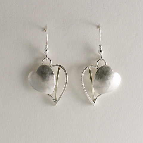 Silver Heart earrings by Kerry Richardson Regular price £50 inc p&p