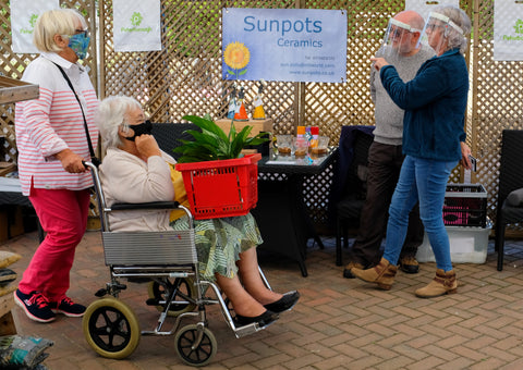 Shoppers at the Open Day