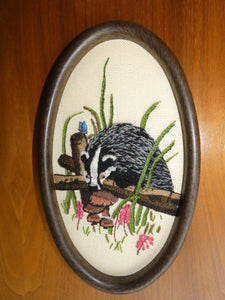 'Badger' Embroidery by Lynn Curry