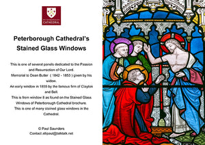 Peterborough Cathedral's Stained Glass Windows Cards by Paul Saunders