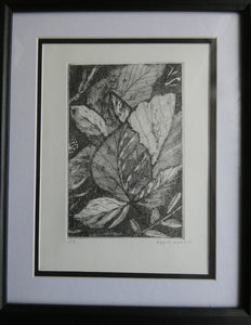 'Leaf Texture' Etching by Lynn Curry