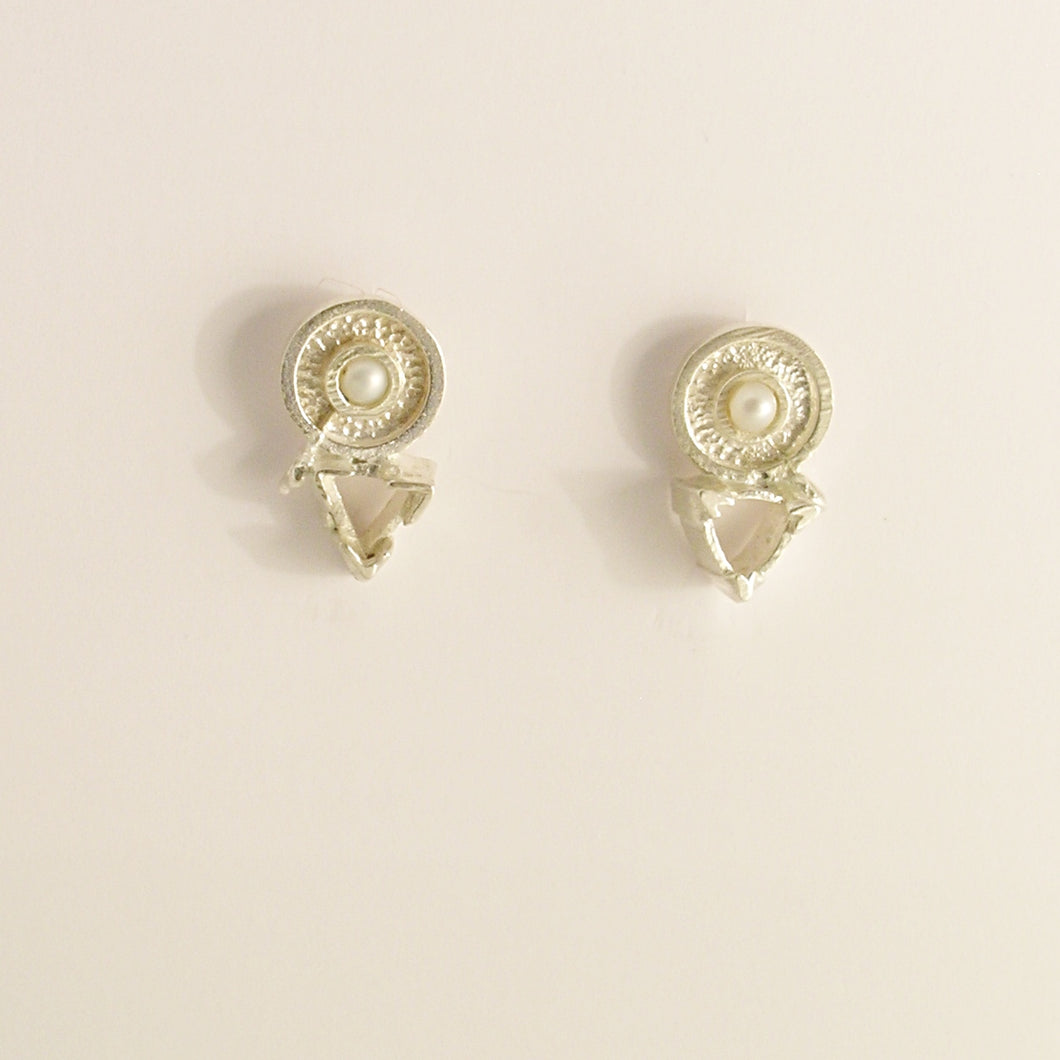 Silver Pearl Recycled Earrings by Kerry Richardson