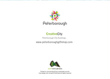Load image into Gallery viewer, Peterborough City Buildings (Blue) Birthday Card