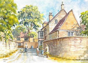 The Lanes behind Peterborough Cathedral (Card)