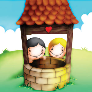 Cupids 'Wishing Well' - make a wish Birthday/Valentine Card