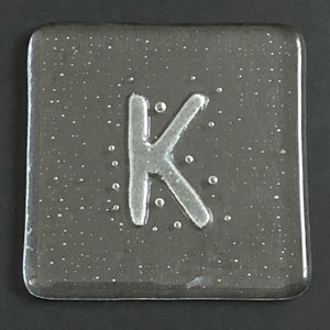 Glass Coaster K by Brian Withall
