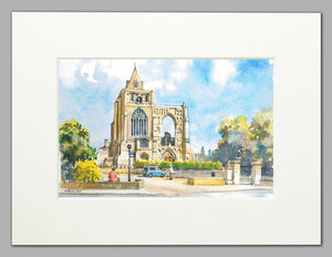 Crowland Abbey - A4 Mounted Print