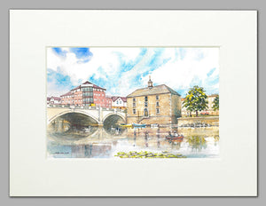 The Customs' House, Peterborough (A4 print of original watercolour)