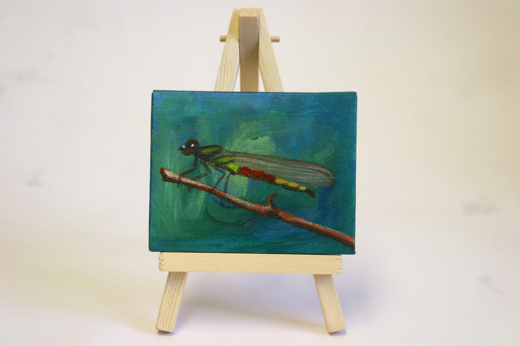 Dragonfly mini-canvas painting