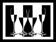 Load image into Gallery viewer, Four wine glasses by Paul Saunders