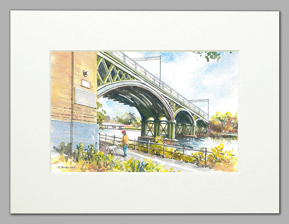 GNR Nene Valley Viaduct (A4 print of original watercolour)