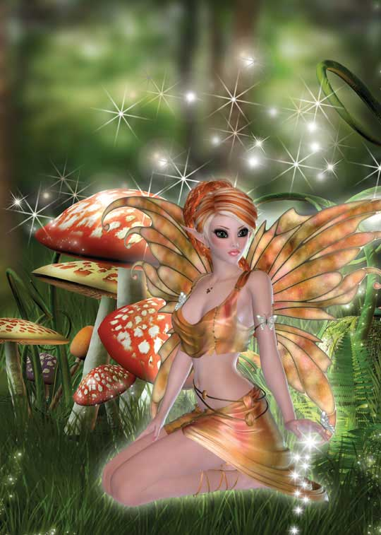 Garden Fairy Birthday Card