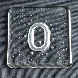 Initial O Glass Coaster - by Brian Whitall, glassmaker