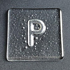 Glass coaster - P