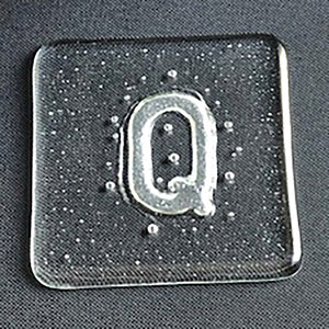 Glass coaster - Q