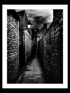 'Goldsmith's Lane, Stamford at Dusk' Framed Print