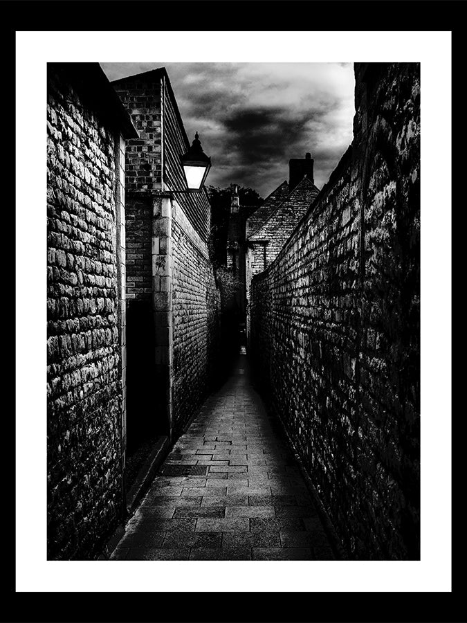 'Goldsmith's Lane, Stamford at Dusk' Framed Print by Paul Saunders