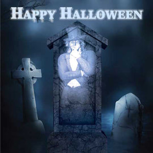 Ghostly Spirit Halloween card